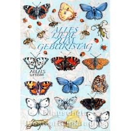 Doppelkarte - Alles Liebe zum Geburtstag