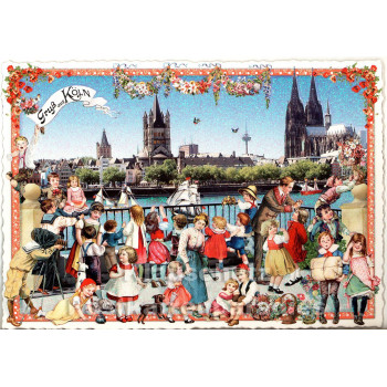 Nostalgie Postkarte - Gruss aus Köln