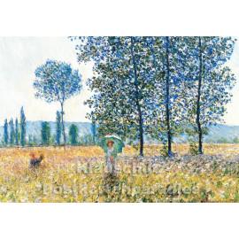 Claude Monet - Felder im Frühling | Kunstkarte