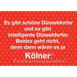 Kölner und Düsseldorfer - Kölsche Geburtstagskarte