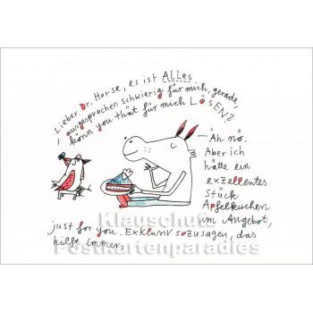 Karindrawings Postkarten | Lieber Dr. Horse