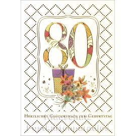Doppelkarte runder Geburtstag | 80