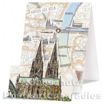 Aufstellkarte - Kölner Dom
