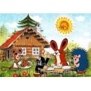 Postkarte | Der kleine Maulwurf macht Frühstück