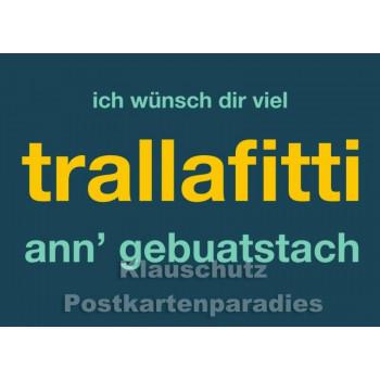 Trallafitti - Witzige Dialekt Postkarte Ruhrpott