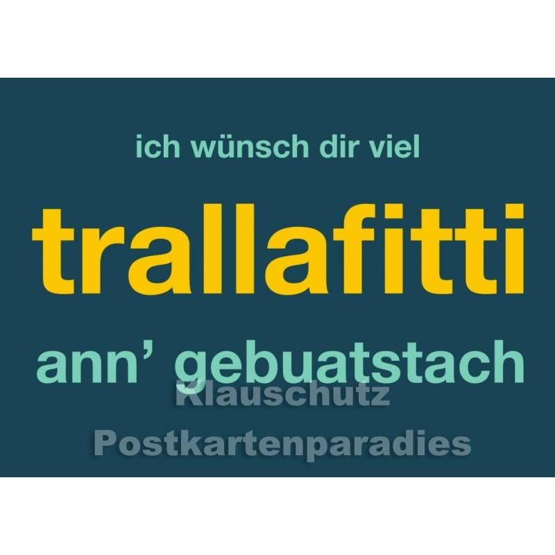 Trallafitti Witzige Dialekt Postkarte Ruhrpott