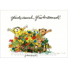 Janosch Geburtstagskarte - Glückwunsch Glückwunsch!