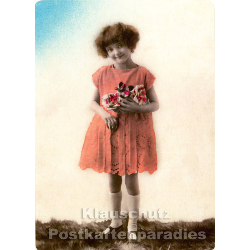 Foto Retro Postkarte s/w | Vintagekids 2