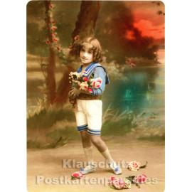 Foto Retro Postkarte s/w | Vintagekids 3