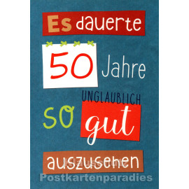 Runder Geburtstag Doppelkarte | 50 Jahre