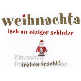 Schwäbische Weihnachten - Witzige Postkarten und Weihnachtskarten auf Schwäbisch von Cityproducts