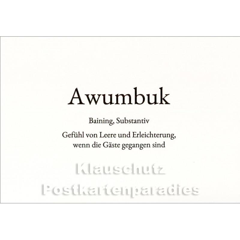 Awumbuk | Wortschatz Postkarte