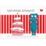 Geburtstags-Liebesgruß   Postkarte