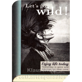 Bookcard - Let`s go wild | Postkarte