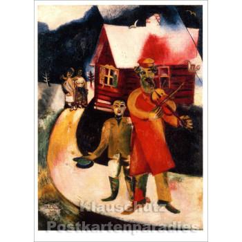 Marc Chagall - Le Violiniste | Kunst Postkarte