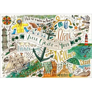 Meeresrauschen - Küsten Postkarten