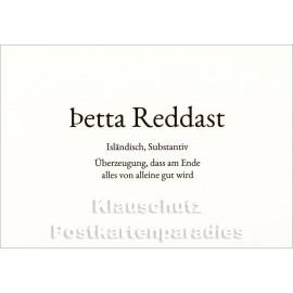 Petta Reddast | Wortschatz Postkarte