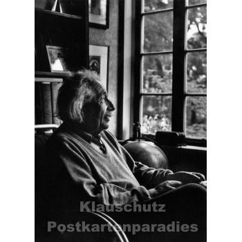 Foto Postkarte s/w | Einstein in Princeton
