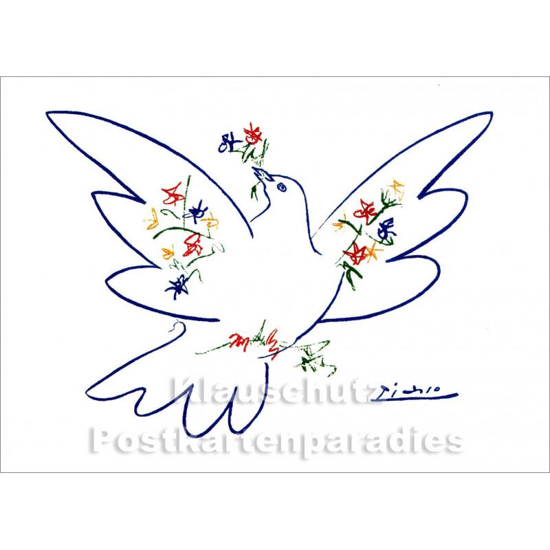 Kunstkarte Picasso | Blaue Taube