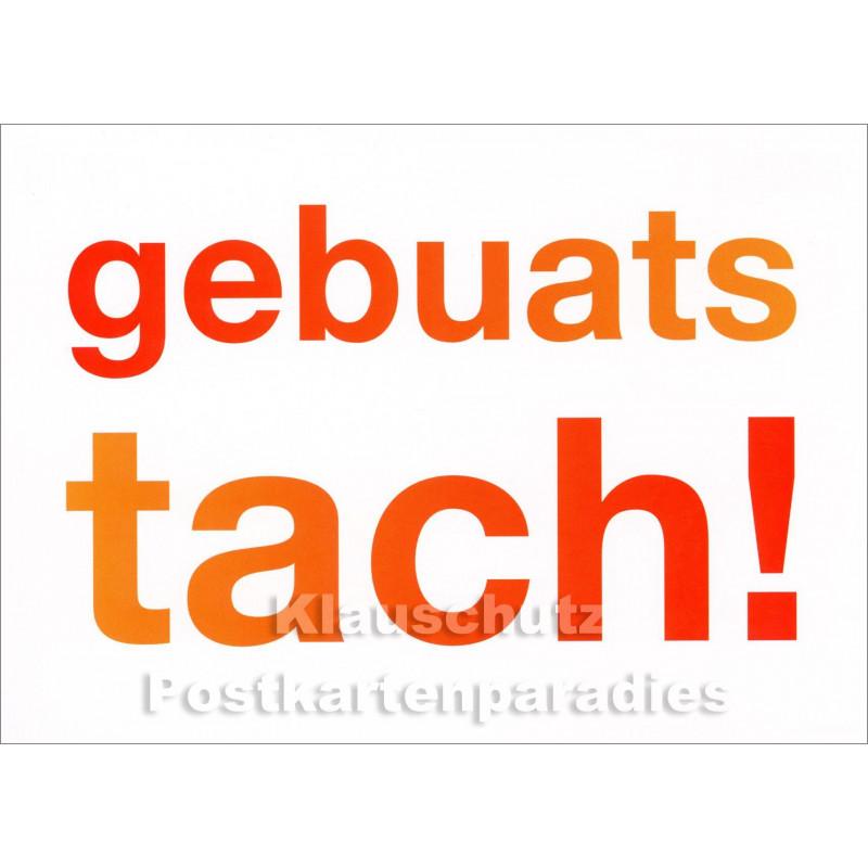 Gebuatstach - Dialekt Geburtstagskarte Ruhrpott
