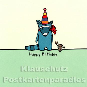 Quadrat Postkarte Happy Birthday