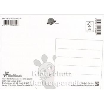 Der kleine Elefant mit Herzluftballon | Postkarte