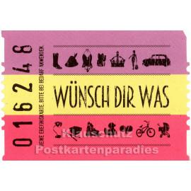 Wünsch dir was - Postkarte