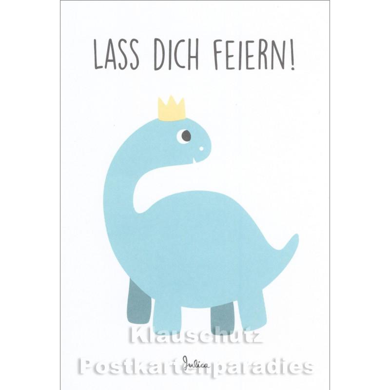 Lass dich feiern -  Kinder Postkarte zum Geburtstag