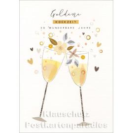 50 wunderbare Jahre Doppelkarte goldene Hochzeit