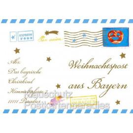 Weihnachtspost aus Bayern vom Christkind - Cityproducts regionale Weihnachtskarte