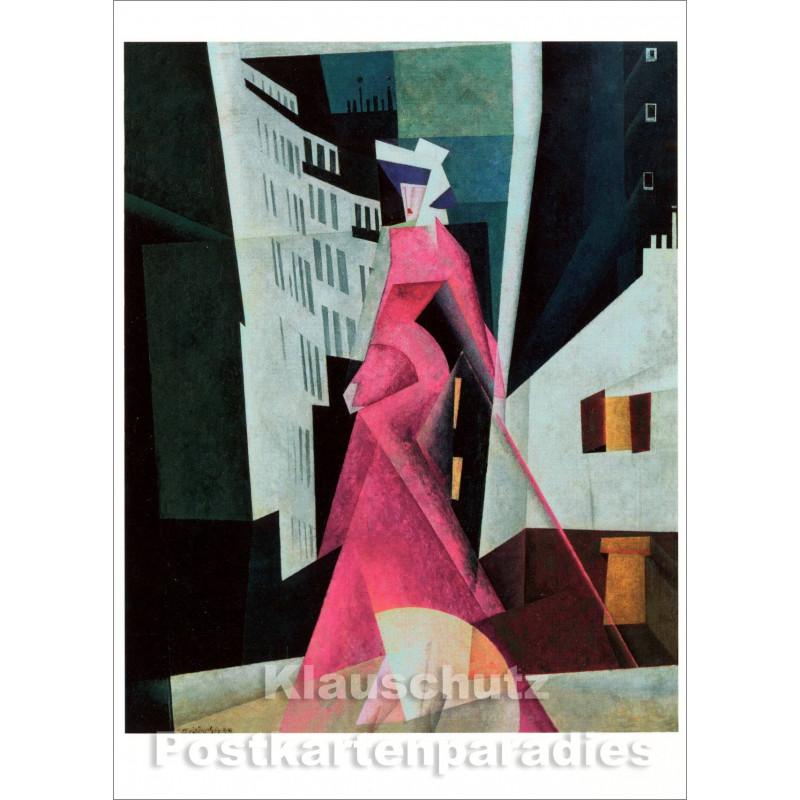 Lyonel Feininger Kunstkarte | Dame in Mauve