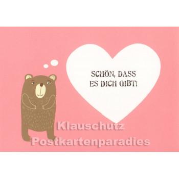 Schön, dass es dich gibt | Bär Postkarte