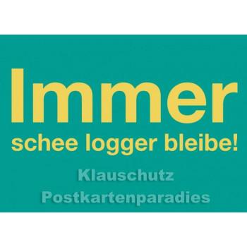 Hessen Postkarten - logger bleibe