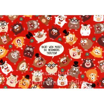 Wimmelbild Postkarte mit Hamstern