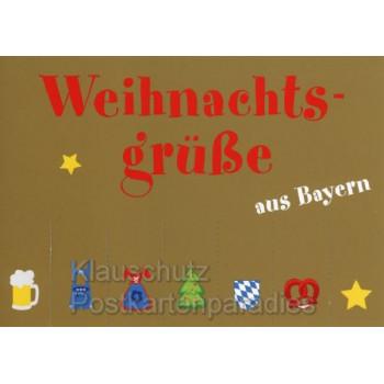 Weihnachtsgrüße aus Bayern - Regionale Weihnachtskarte von Cityproducts