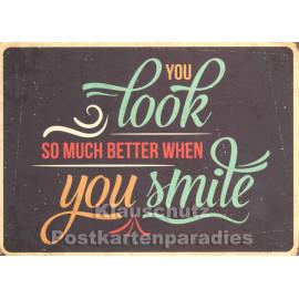 When you smile | Postkarte
