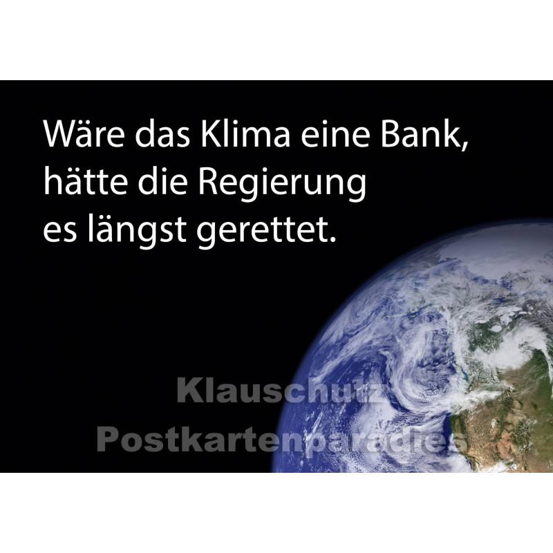 Postkartenparadies Postkarte | Wäre das Klima eine Bank