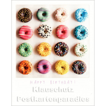 Polacard | Happy Birthday Donuts