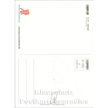 Tun, was man liebt, ist Freiheit - Up-Cards Aufstell Postkarte von Taurus - Rückseite