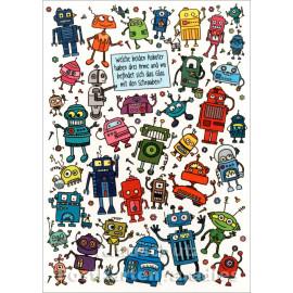 Wimmelbild Postkarte - Roboter