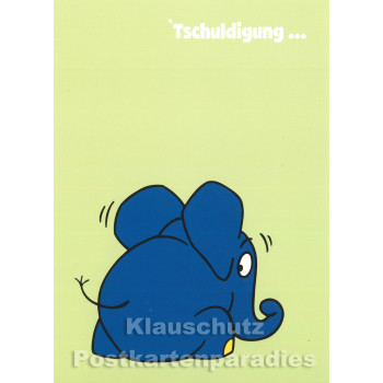 Postkarte Maus / Der kleine Elefant - Tschuldigung