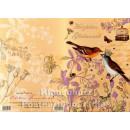 Doppelkarte zum Geburtstag mit Vögeln