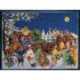 Nostalgischer Postkarten Adventskalender mit dem Wihnachtsmann