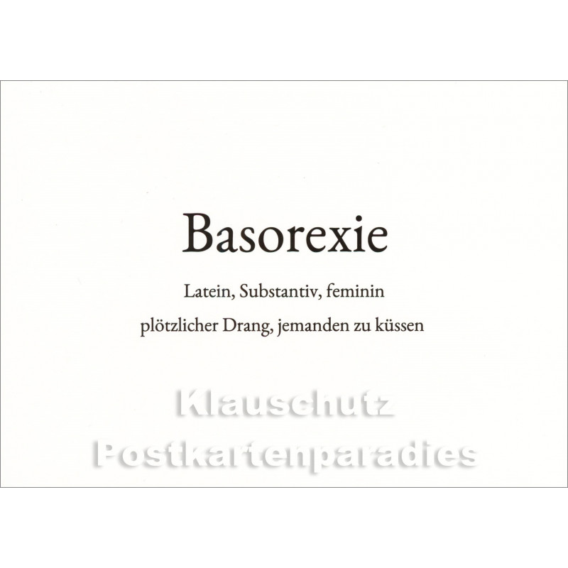 Basorexie | Wortschatz Postkarte