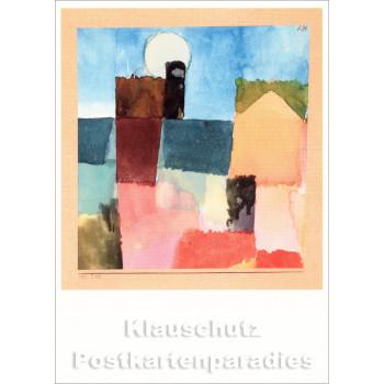 Paul Klee Kunstkarte - Mondaufgang