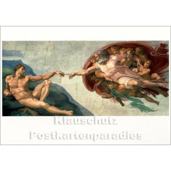 Kunstkarte | Michelangelo | Die Erschaffung Adams