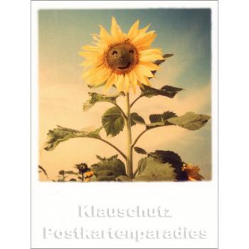 Mini Doppelkarte Polacard (6,5 x 8,5) mit Sonnenblume