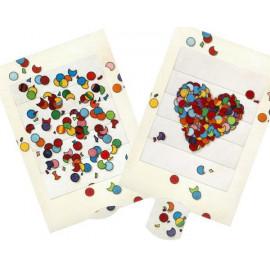 Die  lebende Karte - Konfetti