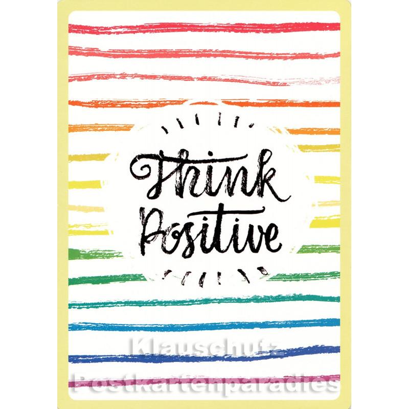 Think Positive - Up-Cards Aufstell Postkarte von Taurus