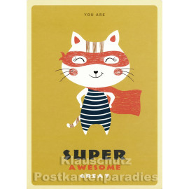 Super Awesome Great - Up-Cards Aufstell Postkarte von Taurus